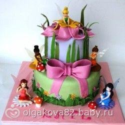 Торт из мастики для женщины
