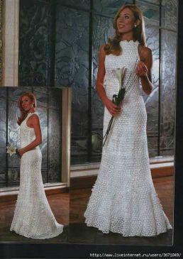 Свадебное платье крючком - на бэби.ру