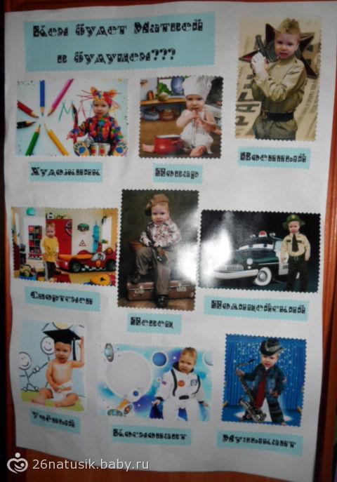 Плакат для дня рождения один год