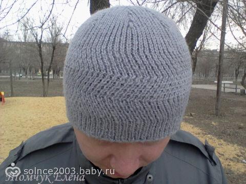 мужская шапка на весну