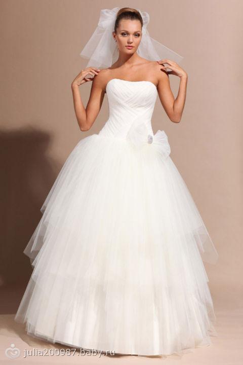 Комментарий: Свадебное платье Аннамари - цена 34500 рублей, Пышное (принцесса), цвет белый - Свадебный салон Каприз