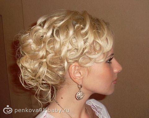 Прическа на длинные волосы - Вечерние прически и макияж - Галерея моих работ - Свадебный стилист-визажист на дому.