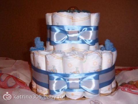 Мастер класс торт из памперсов для мальчиков своими руками
