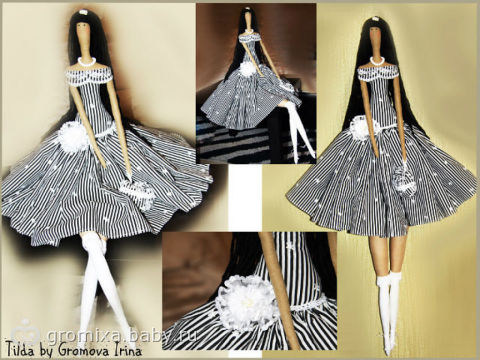 Платья для тильд своими руками