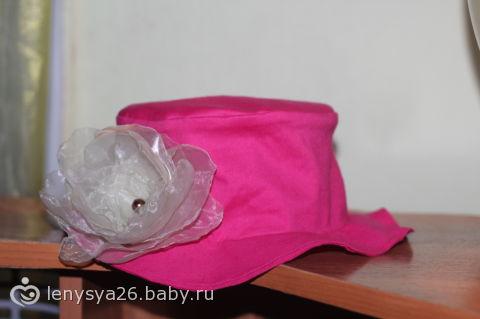 вот такую панамку сшила для дочки! жду комментов)))