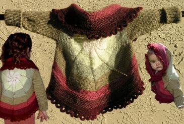 Детский спиральный свитер